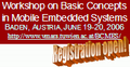 Workshop on Basic Concepts in Mobile Embedded Systems